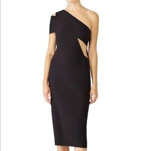 Lacey Midi Dress by AQ/AQ size 8 Black